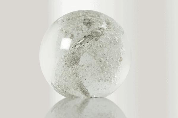 Klot i transparent glas